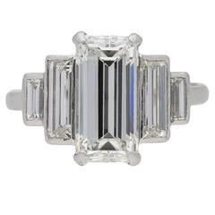 1935 Art Deco Diamond Platinum Engagement Ring