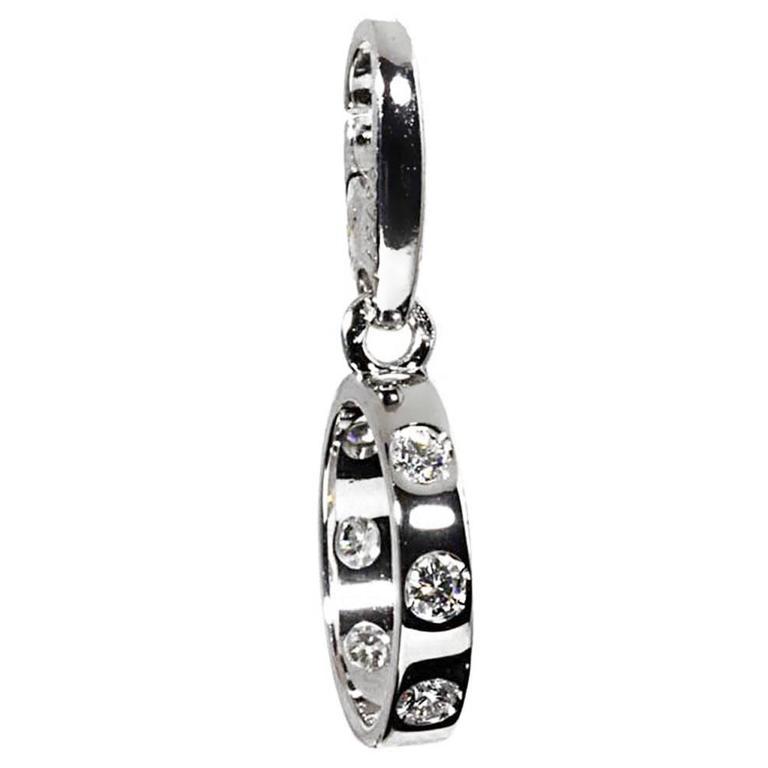Cartier Love Diamond Gold Charm Pendant For Sale
