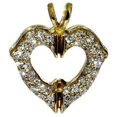 Cartier Diamond Gold Heart Necklace Pendant
