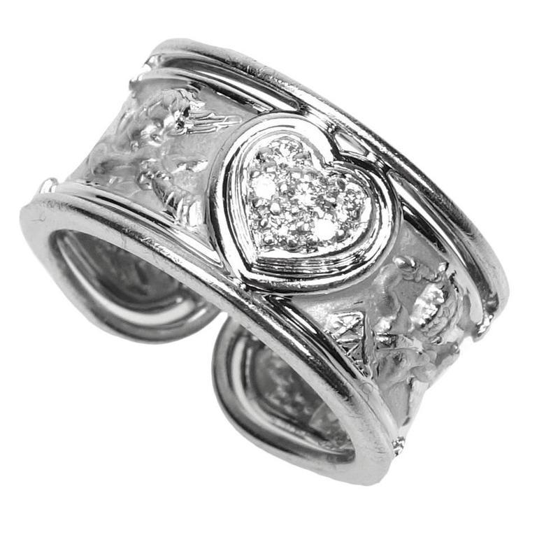 Carrera y Carrera Ronda Angels Diamond Gold Ring For Sale
