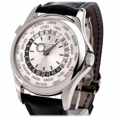Patek Philippe White Gold World Time Wristwatch Ref 5130G-019