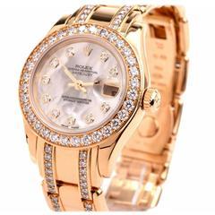 Rolex Lady's Yellow Gold Diamond Datejust Pearlmaster Wristwatch Ref 80298-74948
