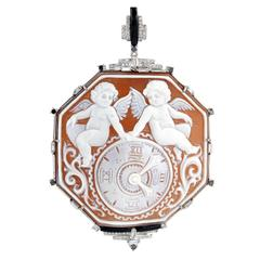 Cameo Diamond Gold Pendant