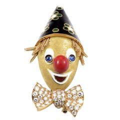 Boucheron Sapphire Diamond Gold Clown Brooch