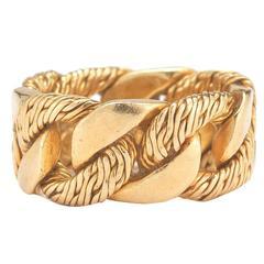 Hermes Interlocking Gold Ring