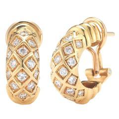 Cartier Diamond Gold Earclips