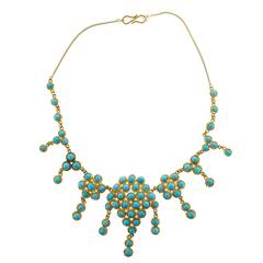 Antique Turquoise Gold Necklace
