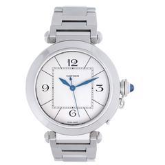 Cartier Stainless Steel Pasha de Cartier Automatic Wristwatch Ref W31072M7