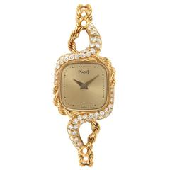 Piaget Lady's Yellow Gold Diamond Mechanical Wristwatch