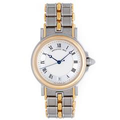 Breguet Yellow Gold Stainless Steel Marine Automatic Wristwatch