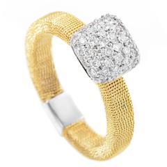 Harpo Diamond Two Color Gold Ring