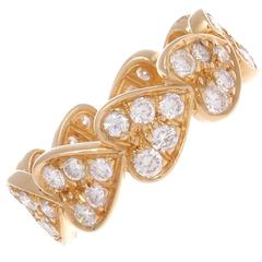 Cartier Hearts Of Diamonds Gold Ring
