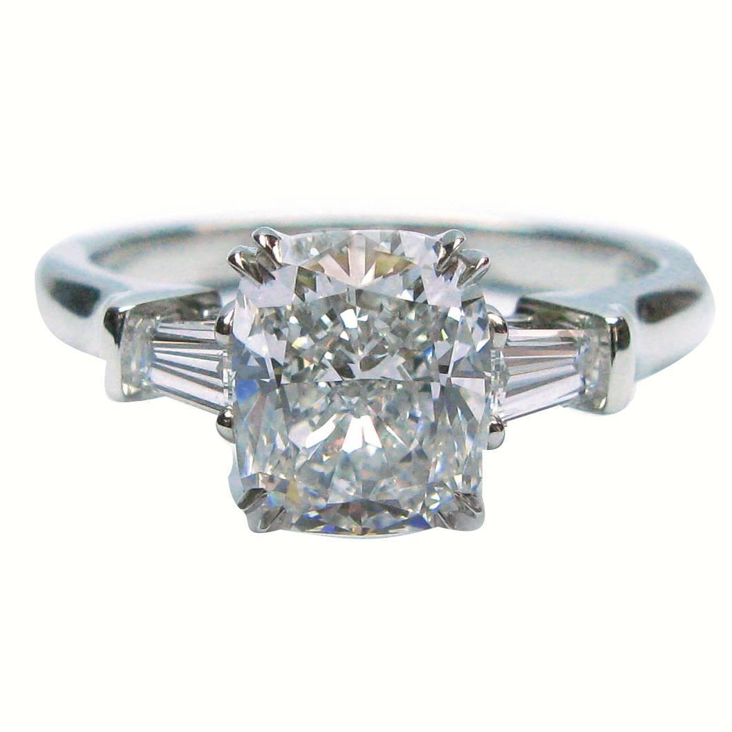 Harry Winston 1 70 Carat Gia Cert Cushion Diamond Platinum