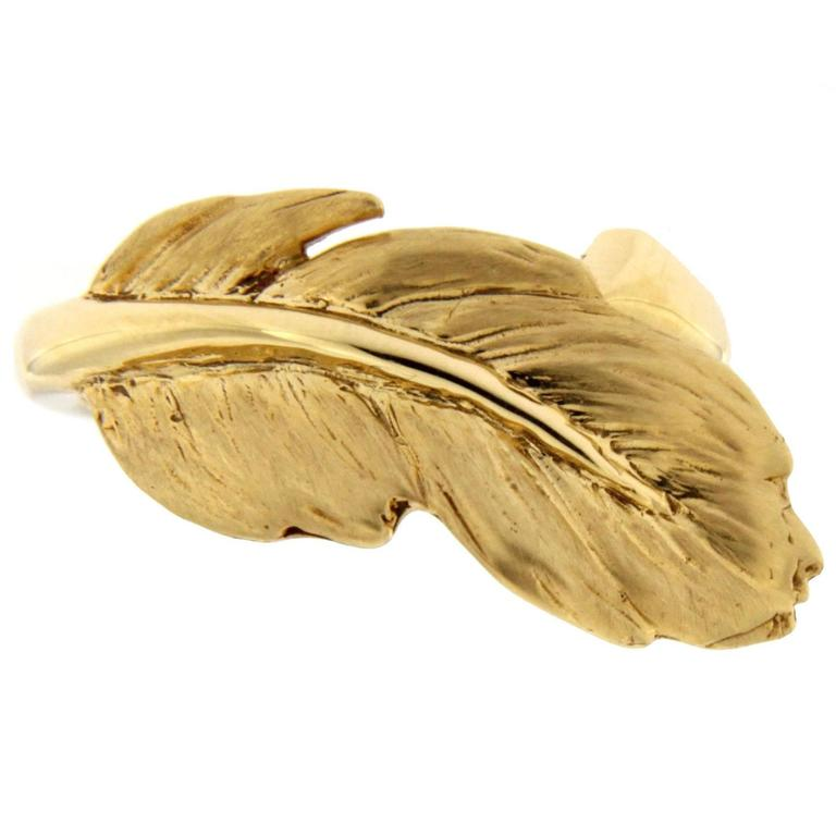 Jona Feather Gold Ring