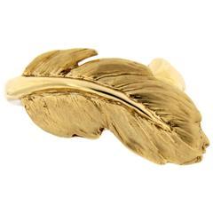 Jona Feather 18 Karat Yellow Gold Ring