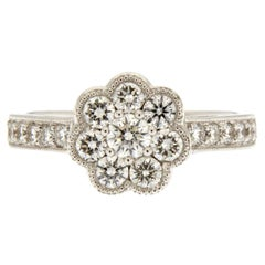 Jona White Diamond 18 Karat White Gold Cluster Ring