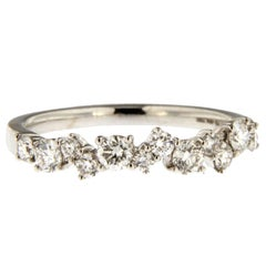 Jona White Diamond 18k White Gold Band Ring