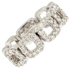 Jona White Diamond 18 Karat White Gold Flexible Band Ring