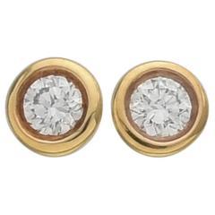 Tiffany & Co. Elsa Peretti Diamonds-by-the-Yard Diamond Stud Earrings