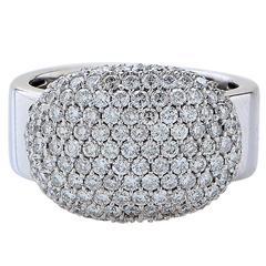 1.95 Carats Pave Diamonds Gold Ring