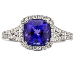 Tanzanite Diamond Gold Ring