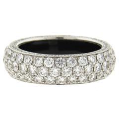 Marco Valente Diamond Gold Wedding Band Ring