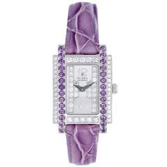 """Chatila Lady's White Gold Diamond """"The Royal Diamond Fancy"""" Quartz Wristwatch"""