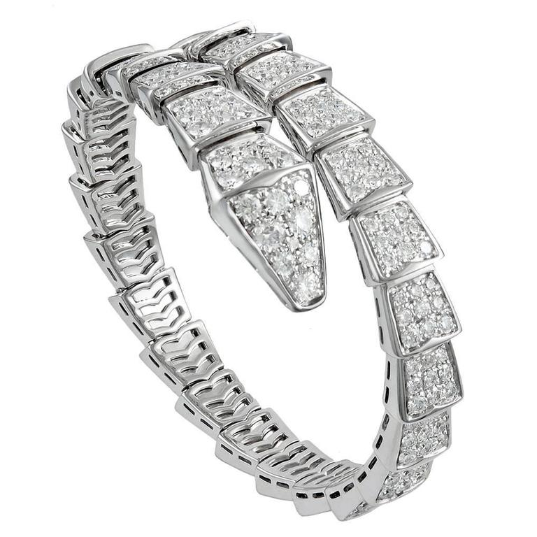 Bulgari Diamond Gold Serpenti Bracelet For