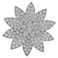 VAN CLEEF & ARPELS Diamond Lotus Brooch