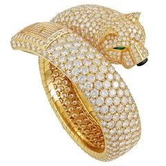 CARTIER Panthere Diamond Watch Bracelet