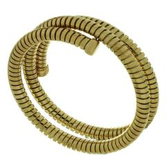 1980s Bulgari Tubogas Gold 3-Row Flexible Bracelet