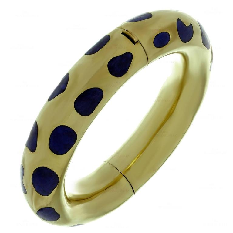 Tiffany & Co. Angela Cummings Lapis Lazuli Gold Bracelet