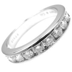 Tiffany & Co. Diamond Platinum Half Circle Band Ring