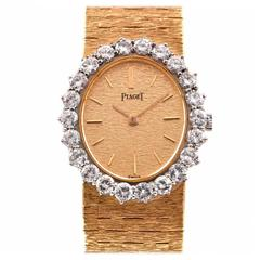 Piaget Lady's Yellow Gold Diamond Wristwatch Ref 9338 A6