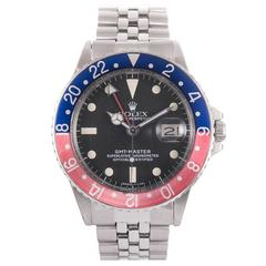 Rolex Stainless Steel GMT Wristwatch Ref 1675