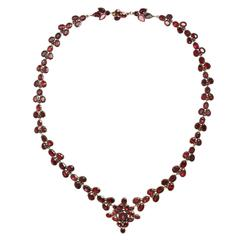 Brilliant Georgian Garnet Necklace Circa 1820