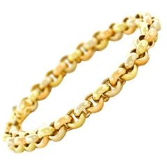 Hermes Tri-Tone Gold Bracelet