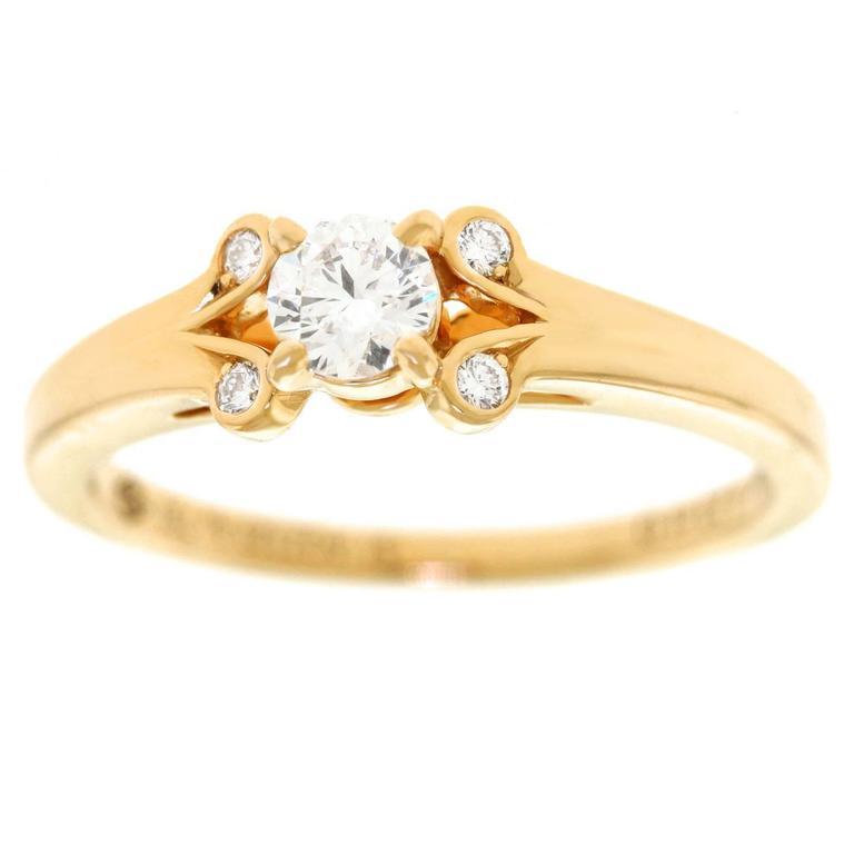 Cartier Diamond Set Gold Ring