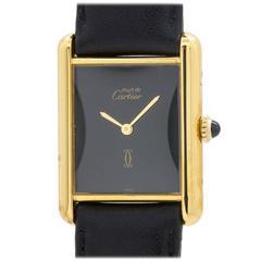 Cartier Man's Vermeil Tank Louis Must de Cartier Wristwatch circa 1980s