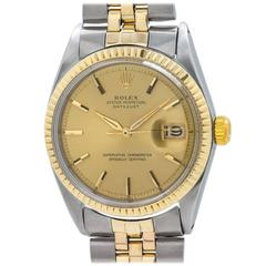 Rolex Steel and Yellow Gold Oyster Perpetual Datejust Wristwatch ref 1601