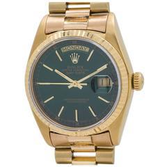 Rolex Yellow Gold Day Date President Wristwatch ref 18038 Custom Dial