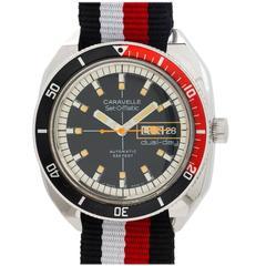 Bulova Caravelle Set-O-Matic Automatic Diver's Dual Date Wristwatch circa 1976