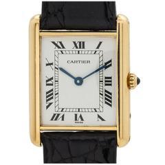Cartier Man's Tank Louis Yellow Gold Wristwatch circa 1990s