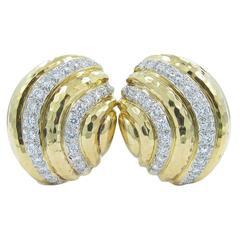 Andrew Clunn Diamond Gold Earrings