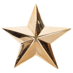 Mid-Century Modernist 18 Karat Gold Star Brooch by Demner