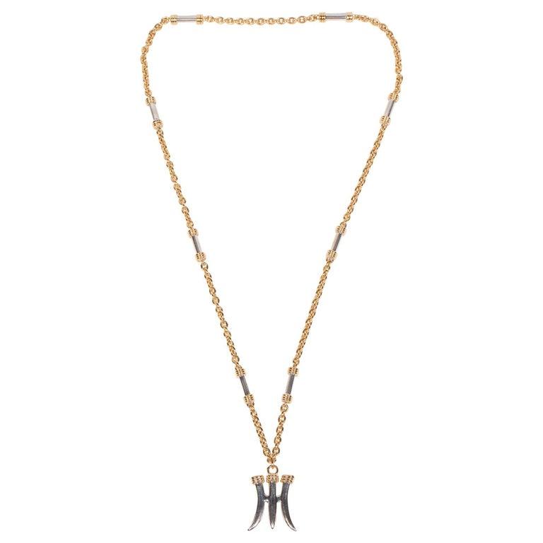 "Eighteen-Karat Gold & Silver Pendant ""Poseidon's Trident"" by Zolotas For Sale"