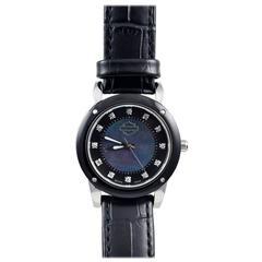 Bulova Stainless Steel Diamond Harley Davidson Quartz Wristwatch