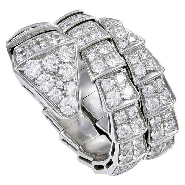 Bulgari Serpenti Diamond Gold Ring 1