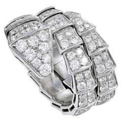 Bulgari Serpenti Diamond Gold Ring