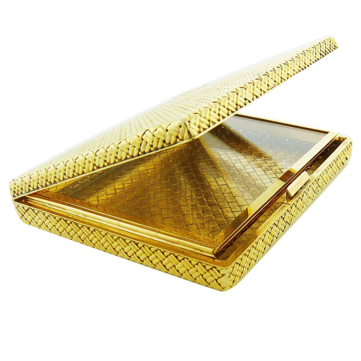 Van Cleef and Arpels Sapphire Gold Business Card Case Holder Box ...